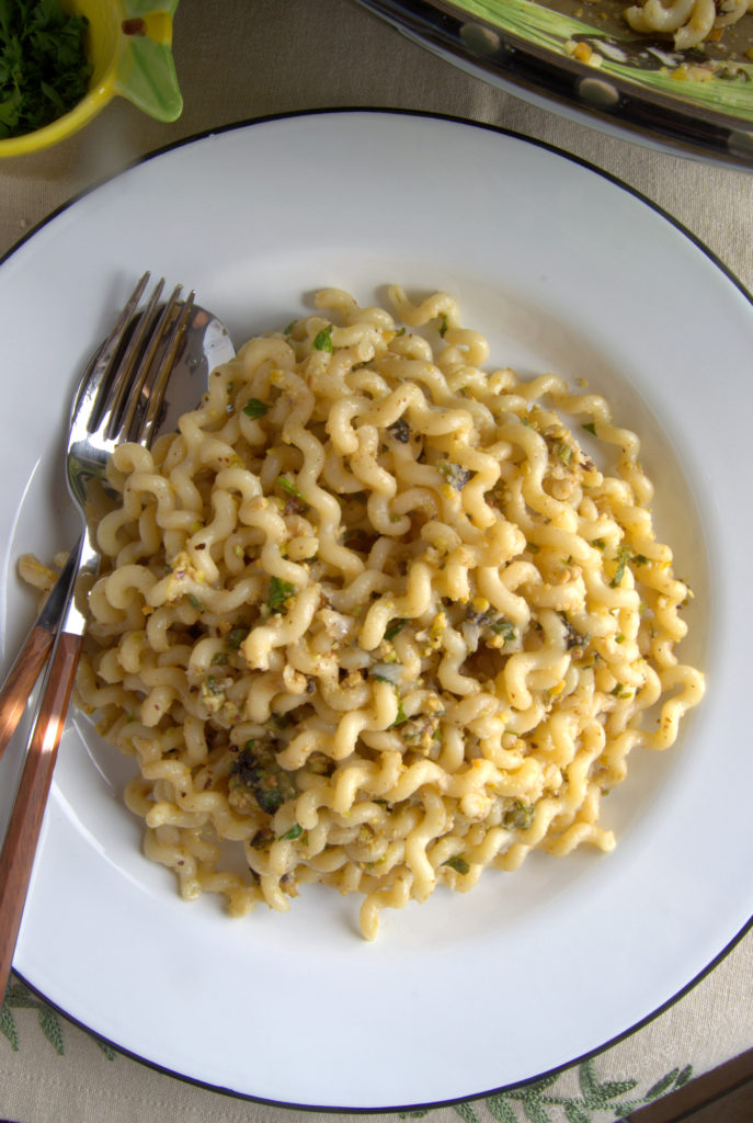 Pasta con pistachos